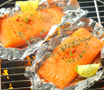 Easy Low Sodium Salmon with Lime and Herbs